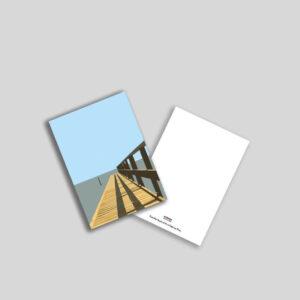 Badebro ved Storebælt postkort