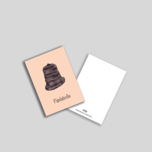 Flødebolle postkort