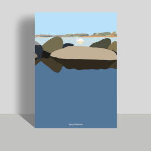 Holckenhavn svane på vandet plakat A3