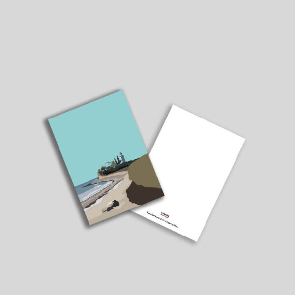 Knudshoved Fyr a5 postkort