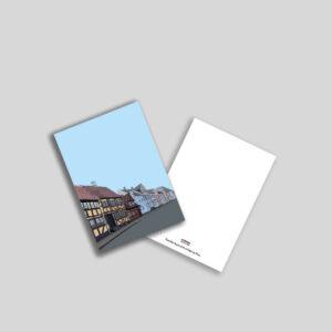 Skønne Skippergade i Nyborg A5 postkort