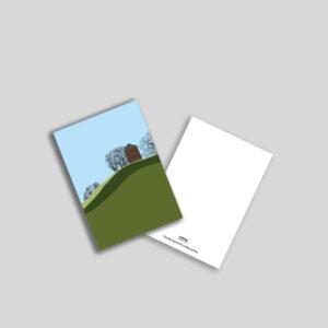 Vandtårn på Dronningen.s Bastion a5 postkort