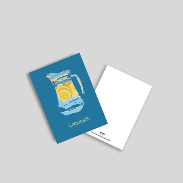 Kande med limonade A5 kunstkort